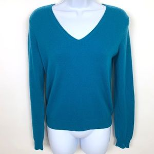 Lord & Taylor Blue 100% Cashmere Sweater